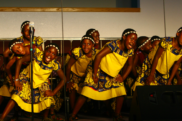 The African Children's Choir in Stratford upon Avon!